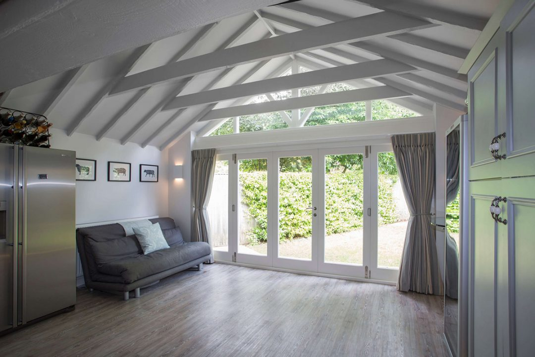 Accoya® bi-fold doors and apex selected for Berkshire cottage