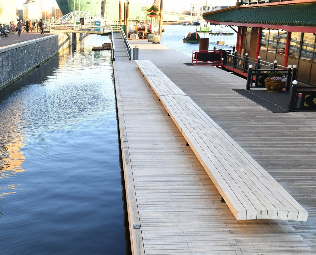 Accoya® decking selected for a floating Jetty in Amsterdam, the Netherlands