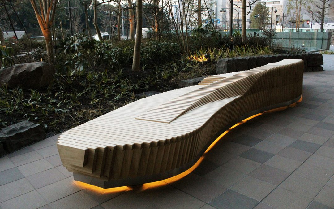 Accoya® selected for a unique Otemachi bench in Tokyo