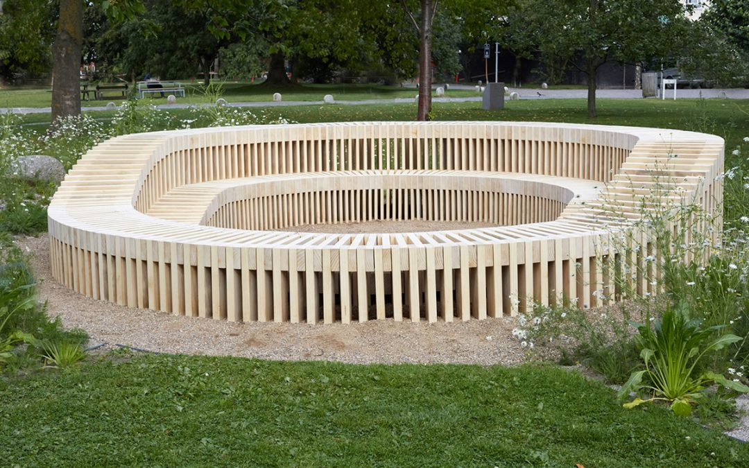 "Outdoor Accoya® furniture at Copenhagen University – ""The wild Campus"