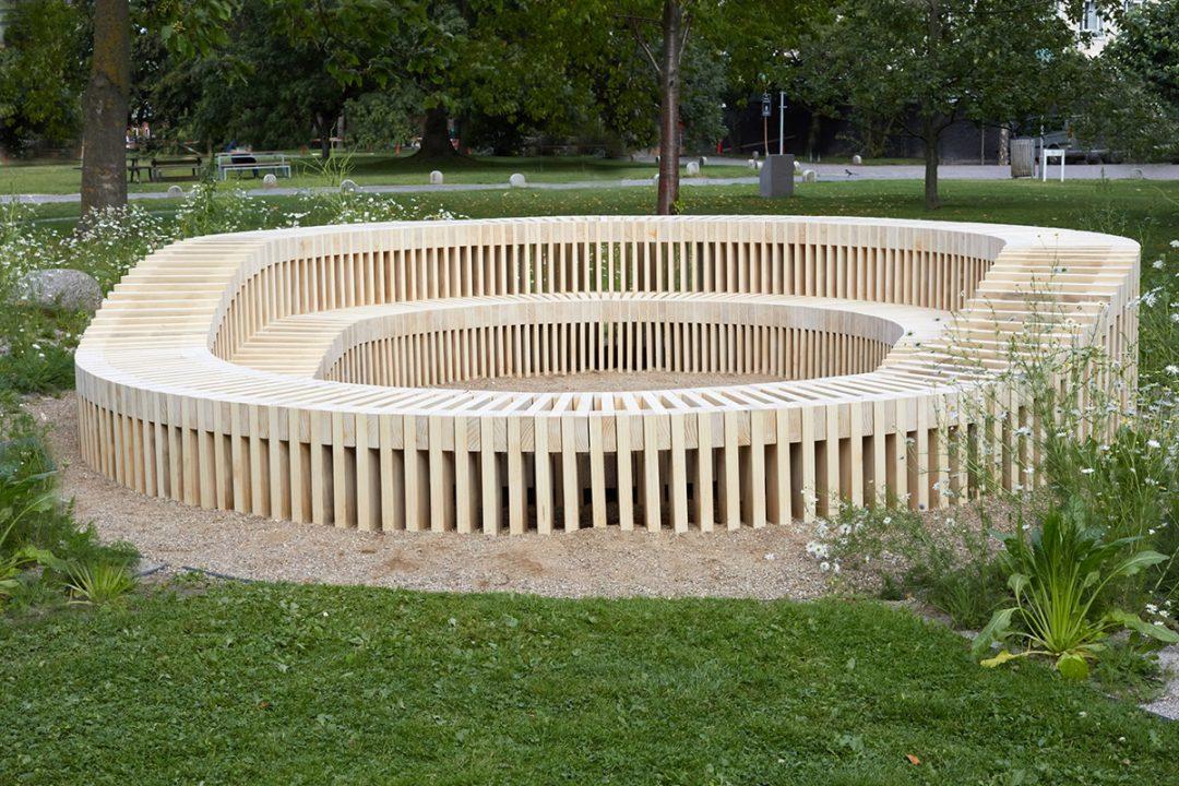 "Outdoor Accoya® furniture at Copenhagen University – ""The wild Campus"