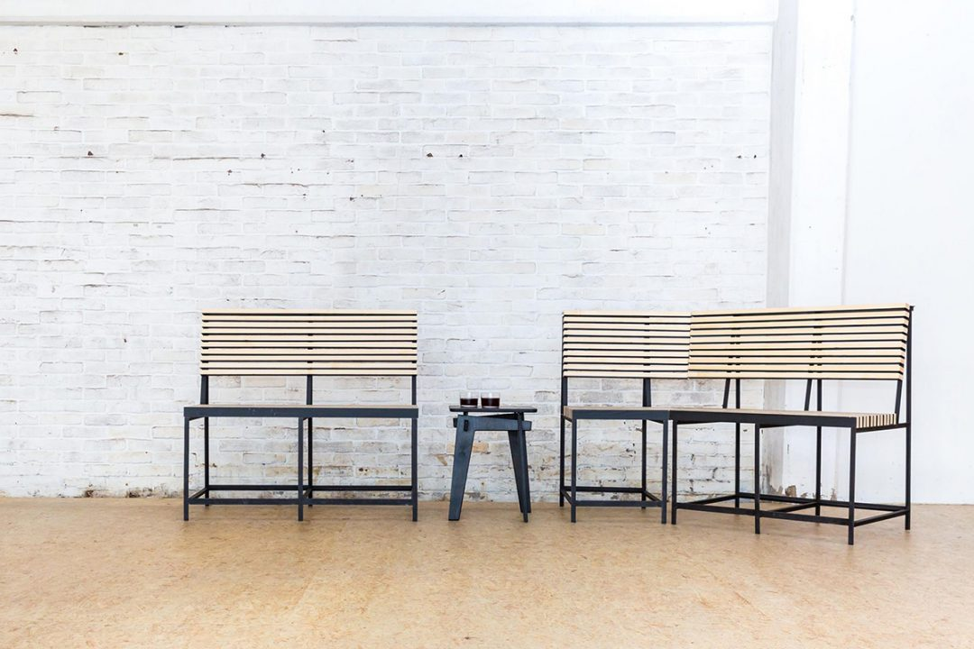 Talented design company Basematters select Accoya® for their new bench concept in Utrecht, Netherlands