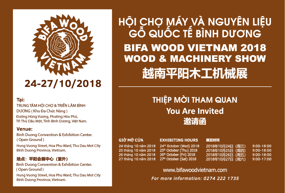 BIFA WOOD VIETNAM 2018   WOOD&MACHINERY SHOW
