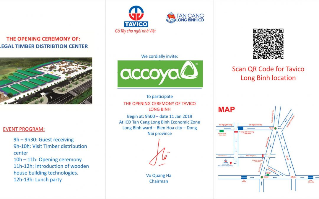 Invitation from TAVICO Group Company,Accoya® exclusive distributor in Vietnam