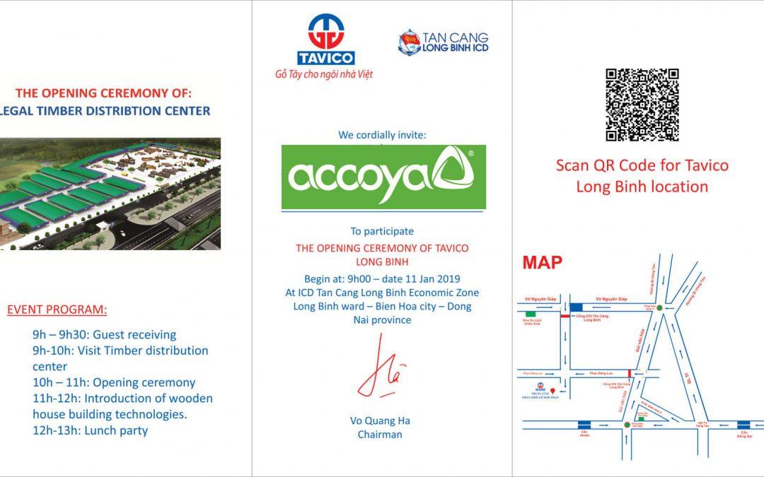 来自Accoya®在越南的独家经销商avico集团公司的邀请函